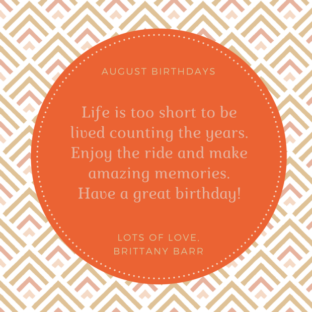 August Birthdays