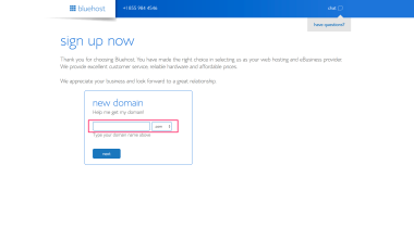 bluehost_domain_search