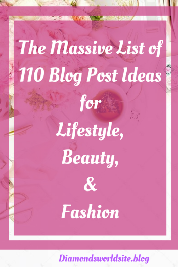 List of tips and ideas Blog post